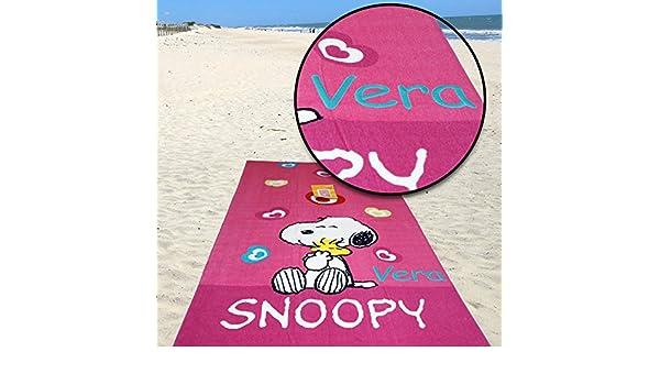 Kid s de regalo - infantil personalizado baño y playa piscina - Toalla, diseño de Snoopy: Amazon.es: Hogar