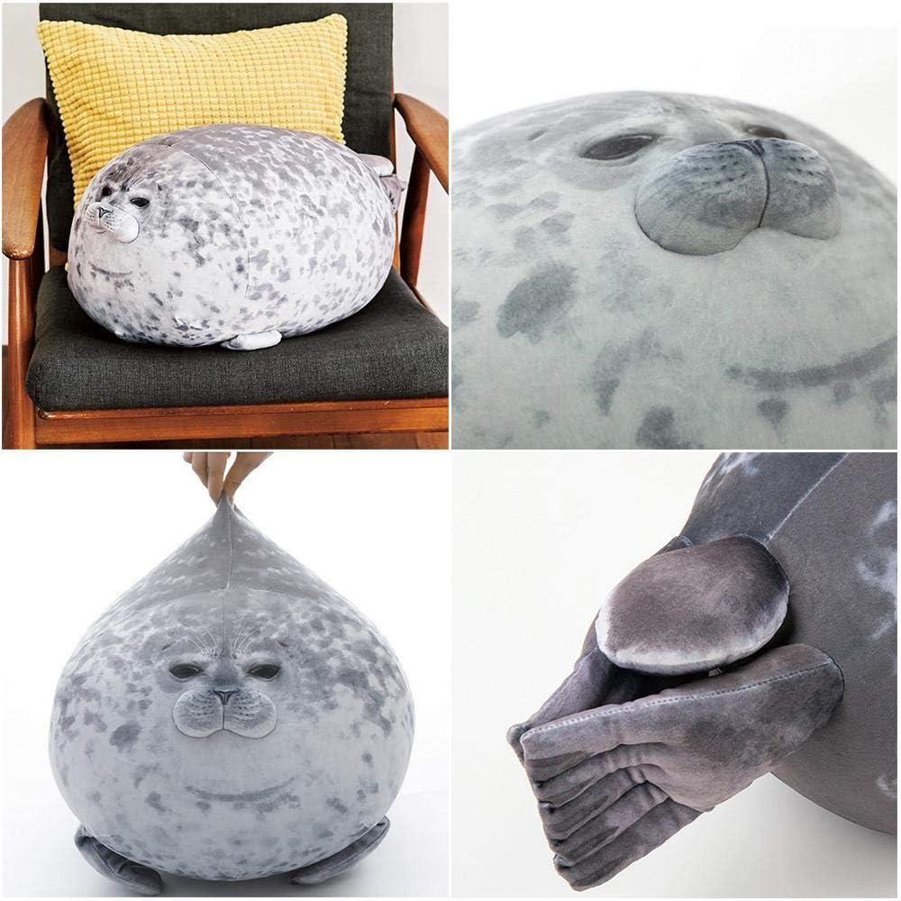 Cute Sea Animal Pillow Stuffed Cotton Plush Animal Toy for Home Travel gaeruite Chubby Blob Seal Pillow