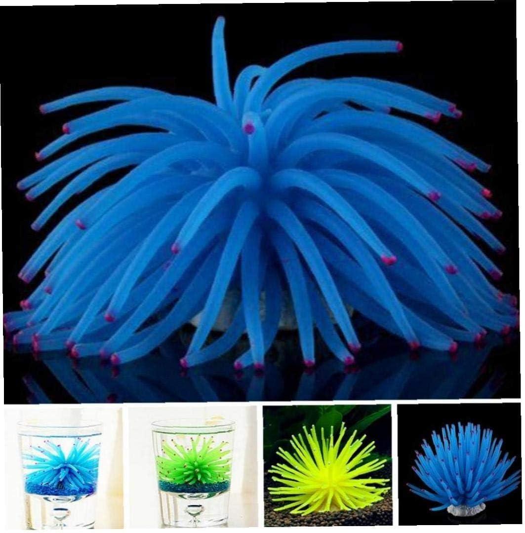 Artificial Luminous Sea Urchin Ball Silicone Coral Fish Tank Aquarium Decoration Random Color