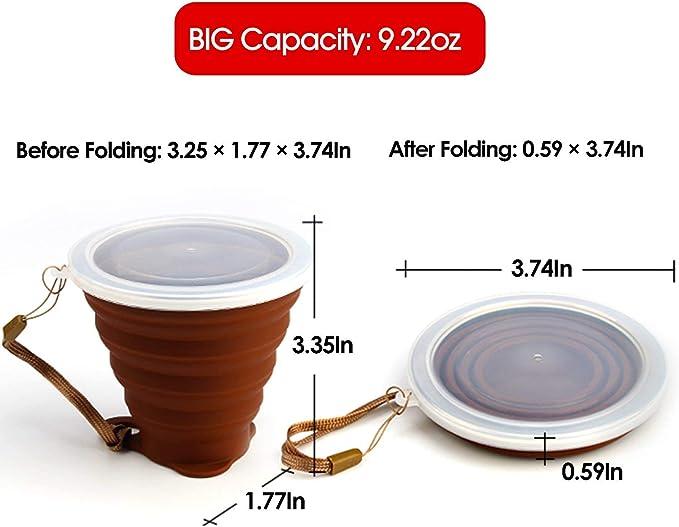 Cubierta de la Copa de Silicona Reutilizable-Regalo Ideal para las habitantes estable
