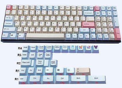 Amazon com: NPKC Full keycaps PBT dye-Sublimated ANSI Cherry