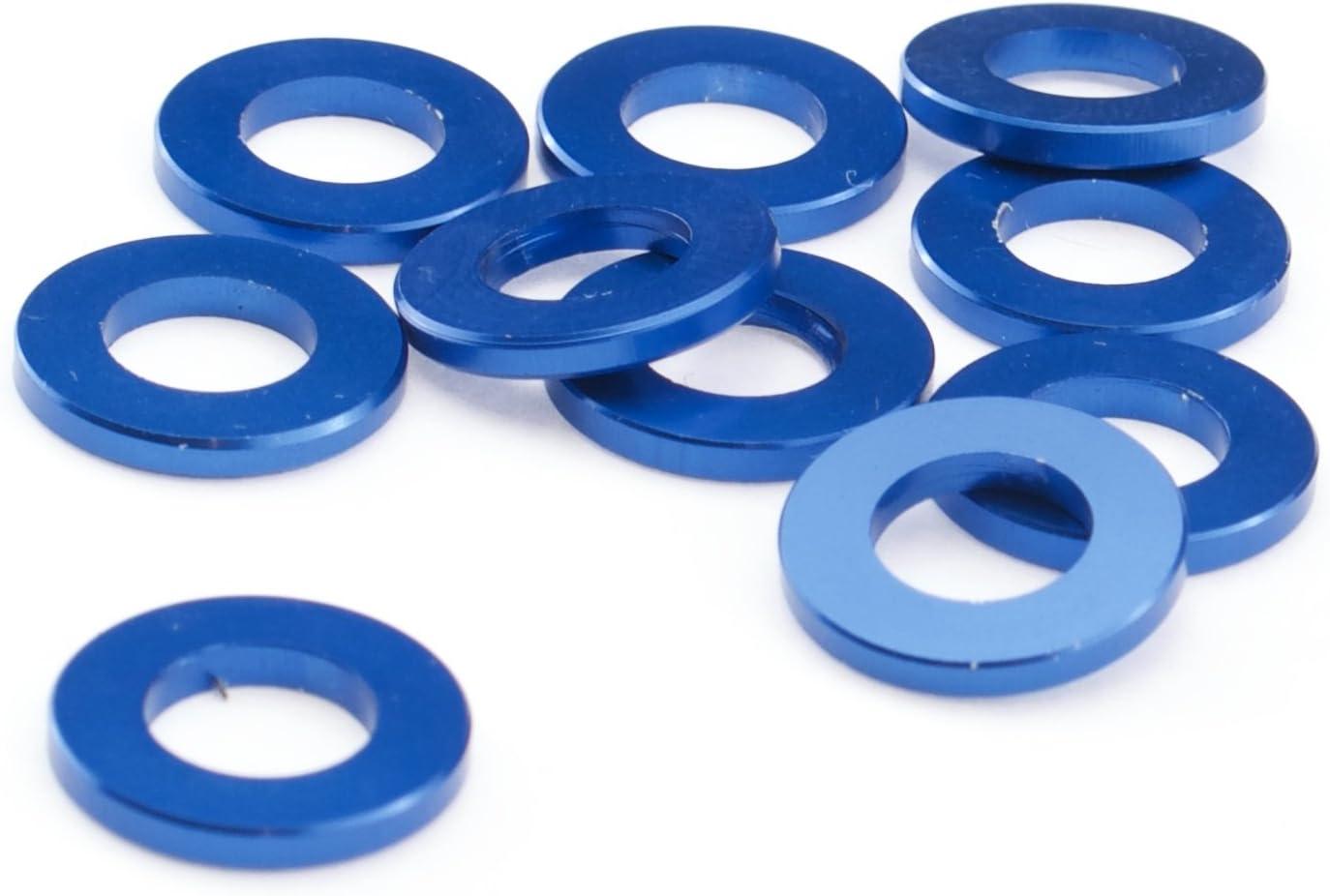 Unterlegscheiben M5 M6 Aluminium Scheibe DIN 125 Alu blau eloxiert