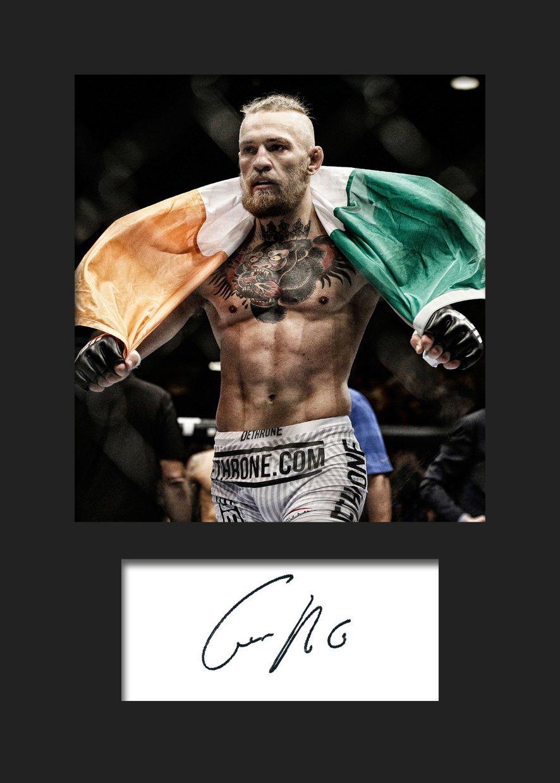 Amazon.de: Fotodruck mit Autogramm von Conor McGregor, UFC, DIN A5