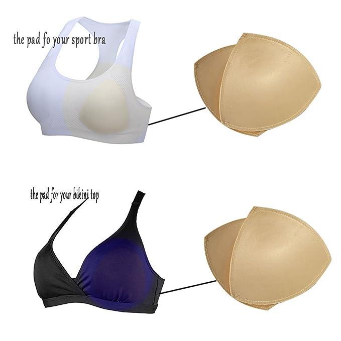 61cf3e78fe677 UGThome 3 pairs Triangle Circular Sew Women Sports Yoga Bikini Top Bra Pad  Insert (A B cup
