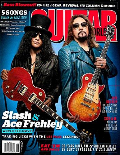 Guitar Magazine Covers - Guitar World Magazine June 2016 Slash & Ace Frehley Cover, Les Paul & SIXX AM