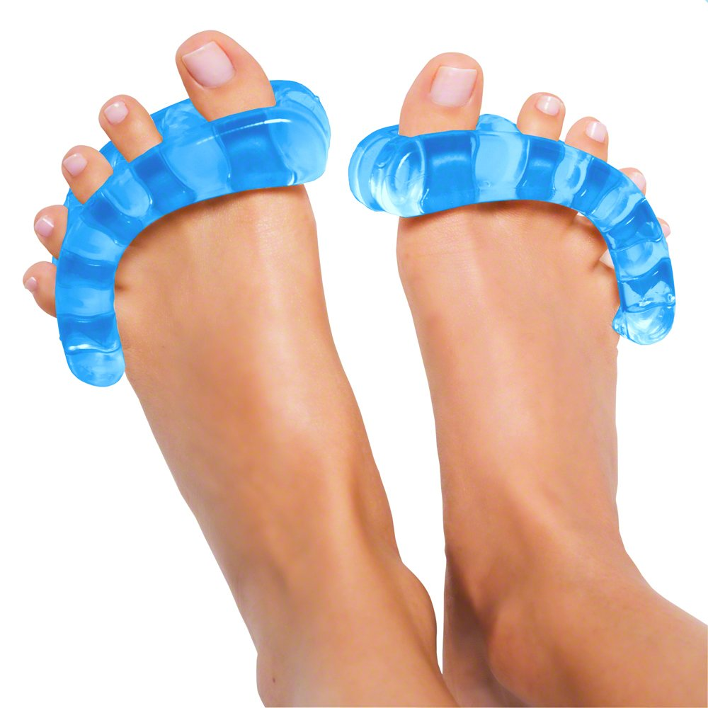 Original YogaToes - Small Sapphire Blue: Toe Stretcher & Toe Separator. Fight Bunions, Hammer Toes, Foot Pain & More!