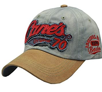 KeepSa Cane s Distressed Vintage Embroidered Baseball Cap Worn Look 100%  Cotton snapback trucker cap  Amazon.co.uk  Sports   Outdoors 99cde3b6af4