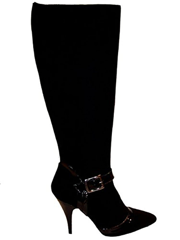 Cafe schwarz Damen Stiefel Lack-Wildleder Dat-66 schwarz schwarz schwarz Größe 41 fc543c