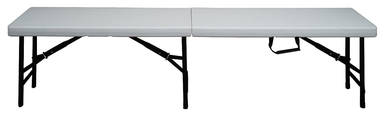 CON:P CMB418330 Festzelt-Bank, klappbar, Kunststoff, 183 x 30 x 43 cm