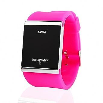 Skmei reloj Digital Unisex niña Vogue sintética correa de caucho pantalla LED luz táctil reloj los amantes de la caja de +: SKMEI: Amazon.es: Relojes