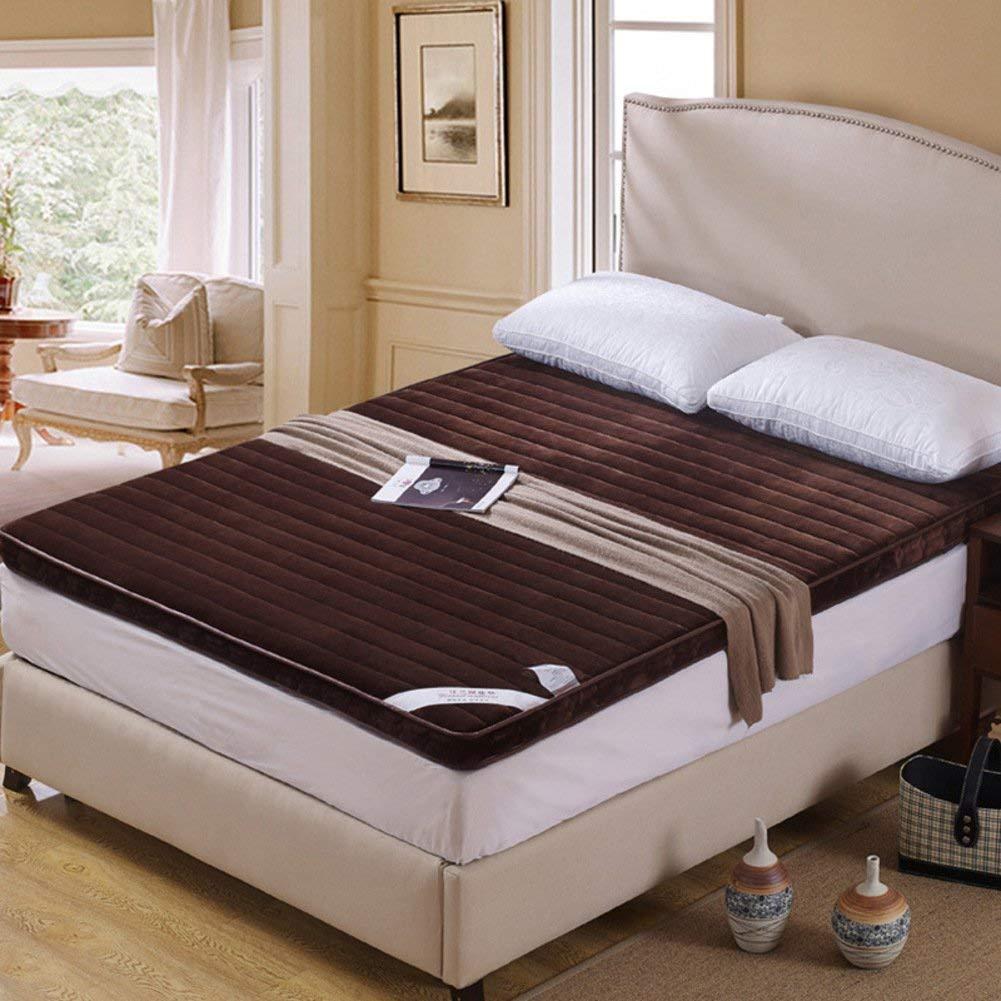 B 120x200cm(47x79inch) EEvER Schlafmatte Bequeme Matratze Tatami-Fußmatte Dorm, Fußmatte Futon Matratzenauflage Japanisches Bett-A 180x200cm (71x79 Zoll) (Farbe   B, Größe   120x200cm(47x79inch))