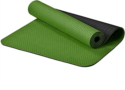 Eco Friendly Material SGS Certified Ingredients TPE Extra Large Non-Slip Bicolor Exercise Mat with Carry Bag FitTrek Yoga Mat Fitness Mat Specifications 72 L x 26 W