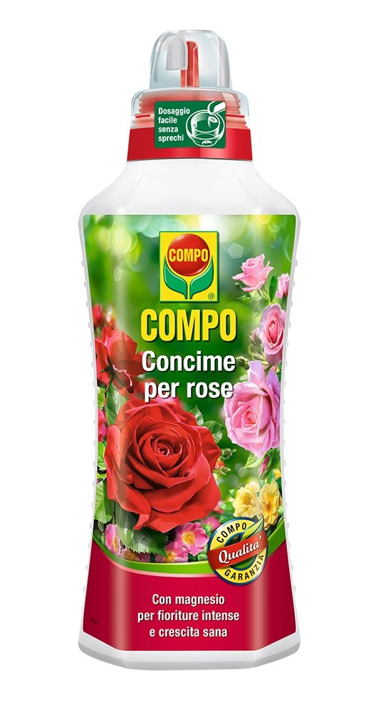Compo 1456002005 Fertiliser for Roses, 1 L, Green, 9 x 18.7 x 27 cm