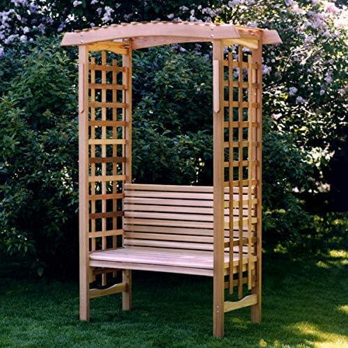All Things Cedar GA87-B Garden Arbor with Bench