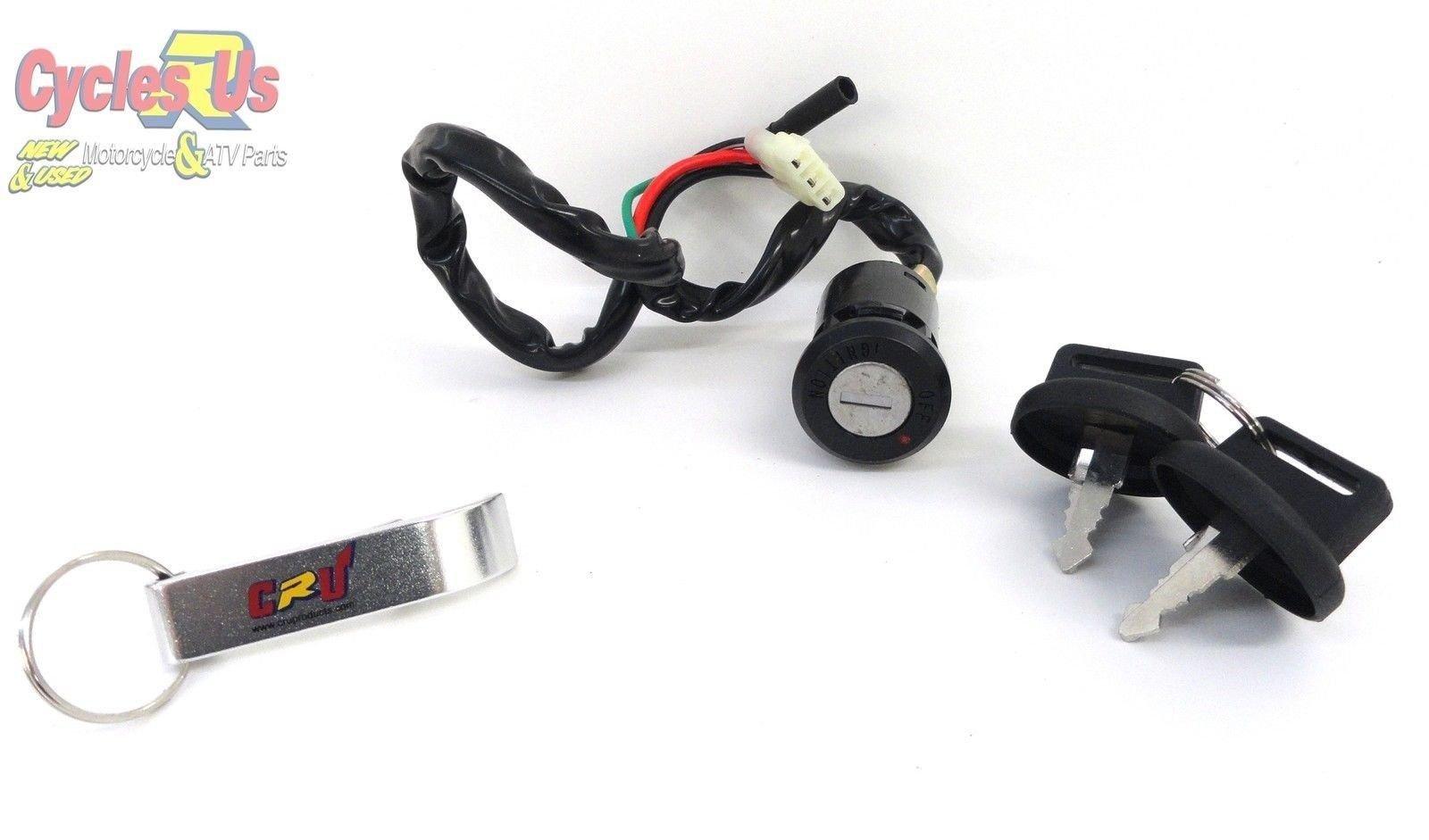CRU Ignition Key Switch 99-04 Honda TRX 400EX 400 EX Sport Trax Sportrax
