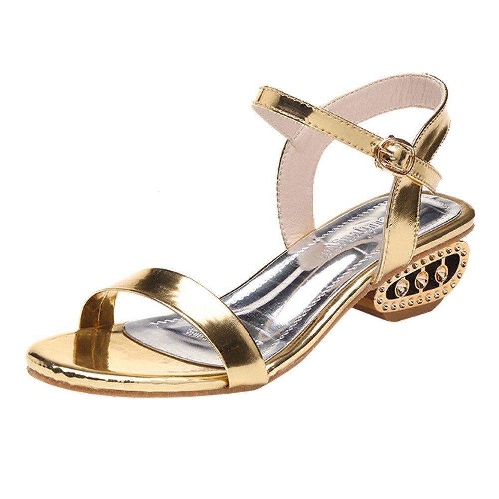 Chaussures Femme,Sandales à la Mode pour Dames, Cheville, Talon Central et Bloc,Mary Janes