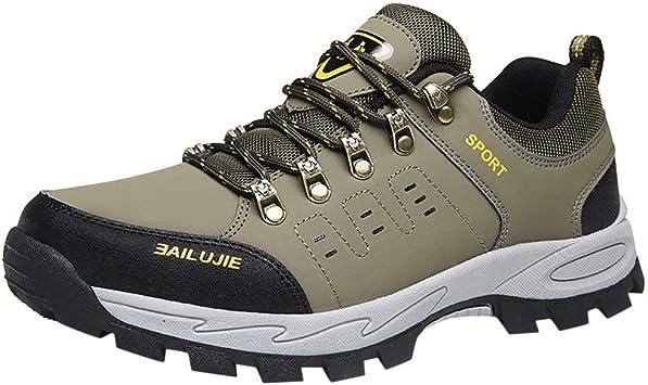 jfhrfged Zapatillas Deportivas de Hombre al Aire Libre Zapatos de Trekking Zapatos Casuales de Tobillo: Amazon.es: Deportes y aire libre