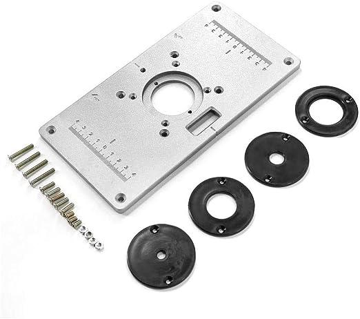 Mesa de Router Placa de inserción de Aluminio 235mm x 120mm x 8mm ...