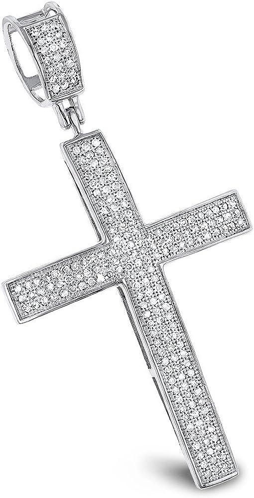 10kt Yellow Gold Green Diamond Cross Pendant