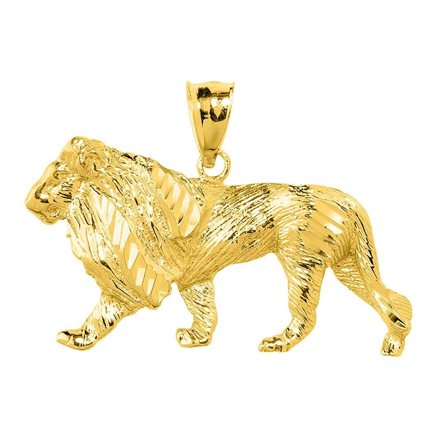 for men pendant ebay head tone itm face lion gold charm two
