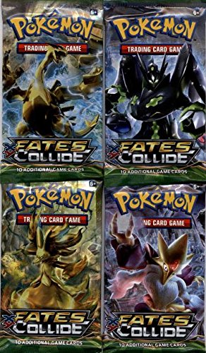 10 Card Booster Pack (4 (Four) Packs - Pokemon XY Fates Collide Booster Packs (10 Cards per Pack))