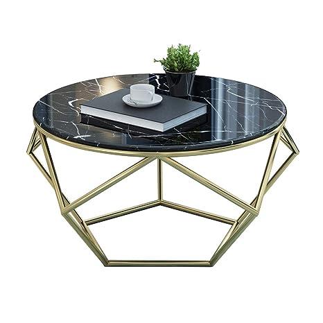 Amazon.com: Mesa redonda de mármol para café/mesa lateral ...