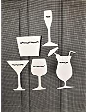 """DCentral Cocktails Anyone? Flexible Screen Magnet Decor; Double-Sided, for Non-Retractable Screens, Helps to Stop Walking into Screens, Covers Small tears in Screens, Avg Sizes W 2.5 x 3.5"""""""