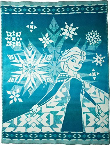 Pendleton Unisex Disney Frozen - Elsa's Courage Jacquard Blanket (Kids) Green One Size (Twin Courage)