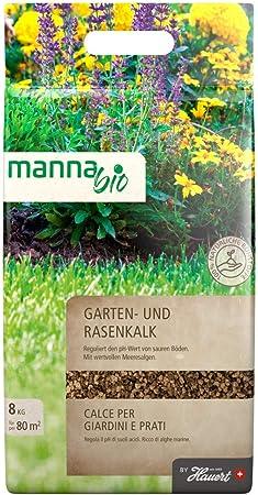 Hauert Manna Bio Cal de Jardín, Césped Cal 8kg con Algas Marinas: Amazon.es: Jardín