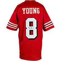 $199 » Steve Young Signed Custom Red Pro Style Football Jersey JSA
