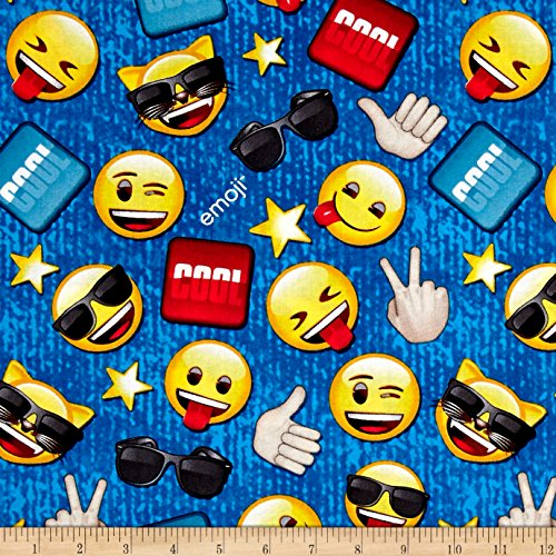 Cool hobbies guys for Emoji material by the yard