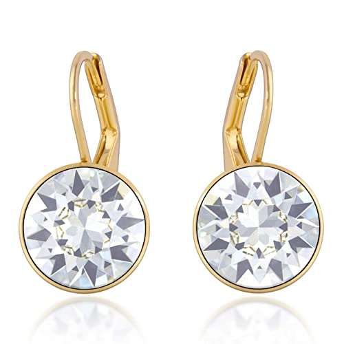 9fa77755a Image Unavailable. Image not available for. Color: Bella Mini Drop Earrings  with White Clear Round Crystals from Swarovski ...