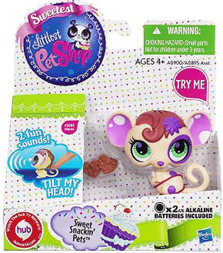 Littlest Pet Shop Sweet Snackin' Figure with Sound Mouse