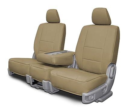 Fine Custom Seat Covers Chevy Silverado 60 40 Beige Leatherette Fabric Uwap Interior Chair Design Uwaporg