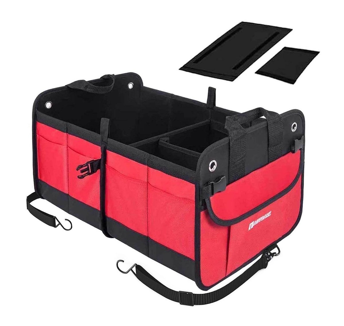Autoark Multipurpose Car SUV Trunk Organizer with Straps, Durable Collapsible Cargo Storage, Waterproof Bottom With Strips & Rubber Foot Based to Prevent Sliding (New Version), AK-042 FBA_AK-042