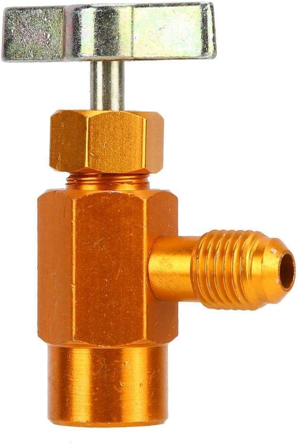 Herramienta de Válvula de Abrebotellas de Aleación de Aluminio Alta Precisión 1/4 Rosca SAE Para Botellas de Refrigerante 1/2 ACME TT1214(1/2ACME TT1214)