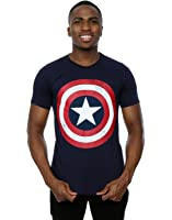 Marvel Homme Captain America Distressed Shield T-Shirt