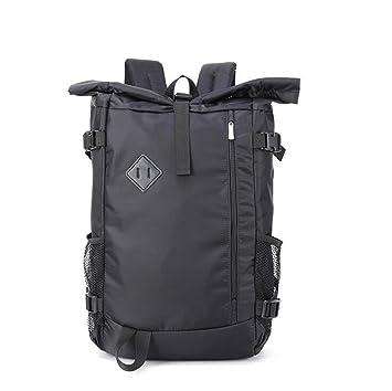 Mochila de negocios para hombres Paquete de viaje al aire libre Mochila de hombro doble Mochila de gran capacidad para portátil de 15 pulgadas (black): ...