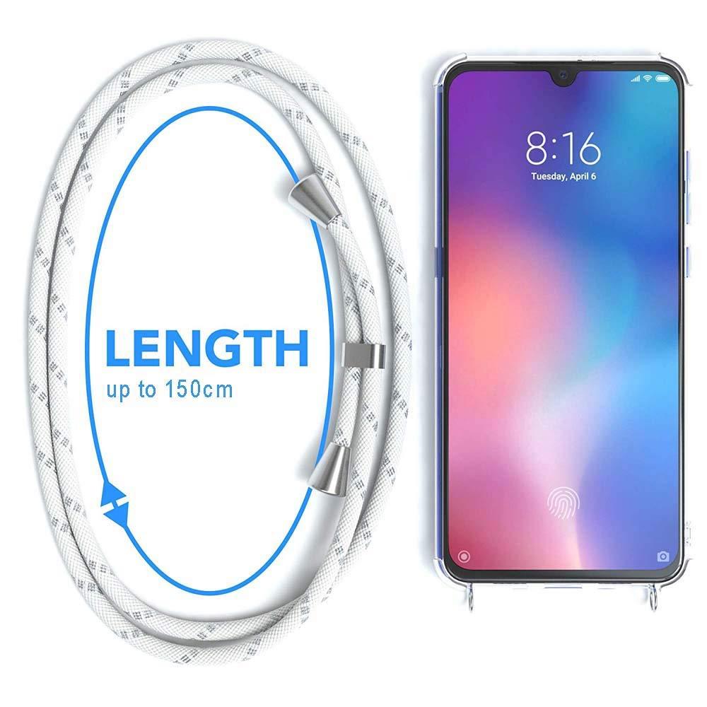 Suave Silicona Transparente TPU Carcasa de movil con Colgante//Cadena Anti-rasgu/ños Gris Anti-Choque Moda y Practico YuhooTech Funda con Cuerda para Huawei Mate 10 Lite,