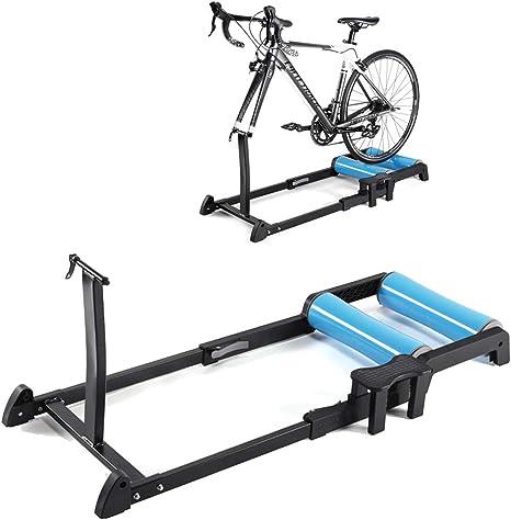 LittleNUM Plataforma de Bicicleta de Entrenamiento,Silencio de la montaña de Rodillos de Entrenamiento en Bicicleta,Compatible con Las Motos Que ...