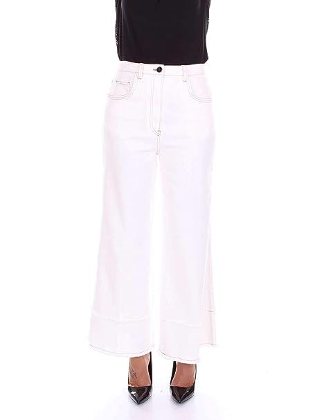 Miu Miu MP1216L3Z Pantalon Mujer Marfil 42  Amazon.es  Ropa y accesorios 0a002a54361
