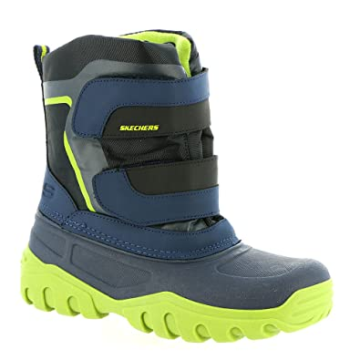 46dc80999d76 Skechers High Slopes Boots Boys Waterproof Winter Snow Rain Cold Shoes  96111L (UK1.5