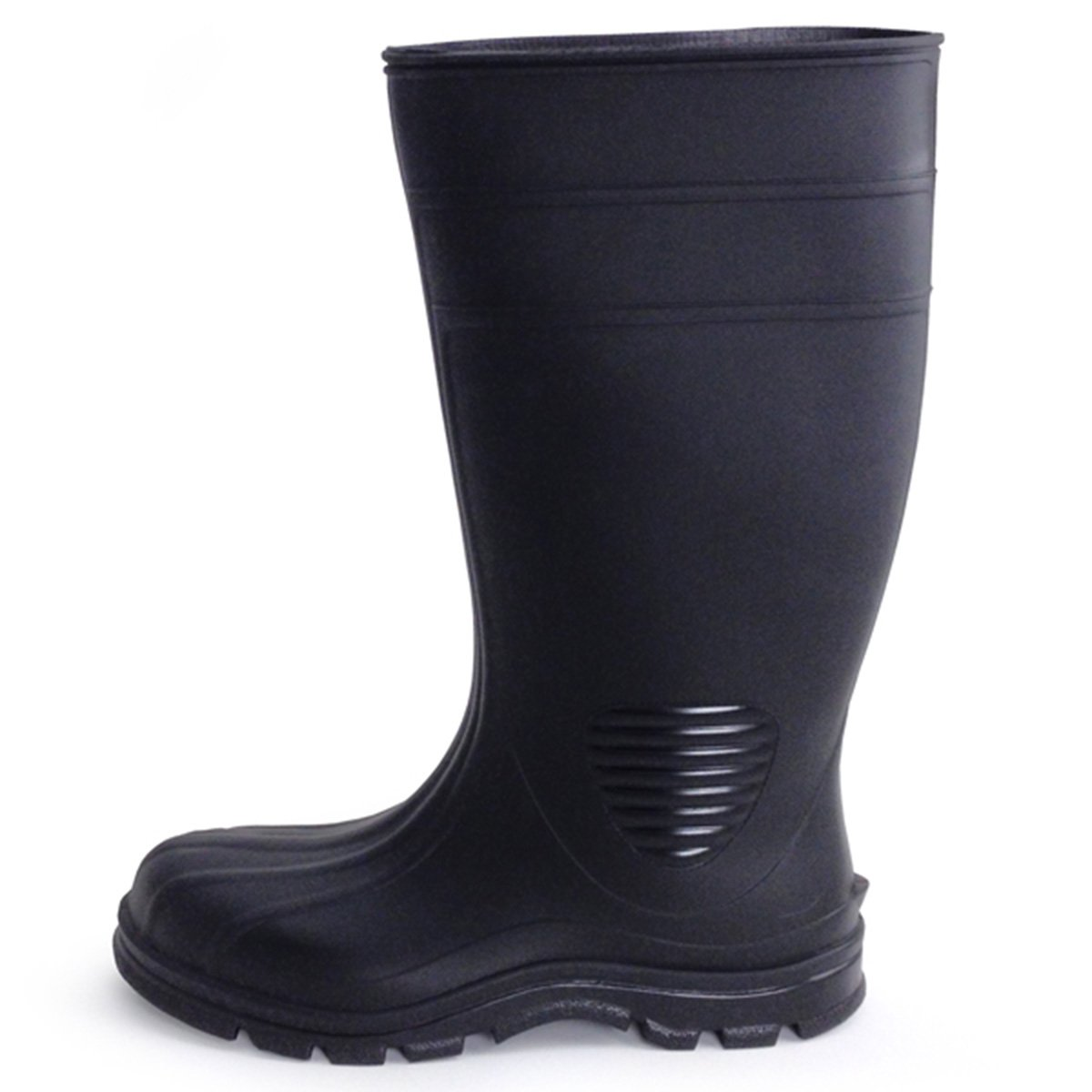 UltraSource 444106-6 Economy PVC Boots, Black, Steel Toe, Size 6