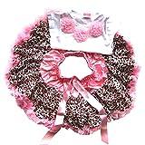 PanDaDa Baby Girls Tutu Skirt Leopard Lace Ballet Skirt Blouse T-shirt 1-4 Year