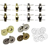 Hysagtek 40 Sets Magnetic Button Clasps Snaps Fastener Clasps DIY Craft Sewing Buttons Knitting Buttons Sets for Sewing…