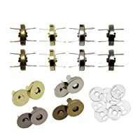Hysagtek 40 Sets Magnetic Button Clasps Snaps Fastener Clasps DIY Craft Sewing Buttons Knitting Buttons Sets for Sewing, Craft, Purses, Bags, Clothes, Leather, 4 Colors (14mm)