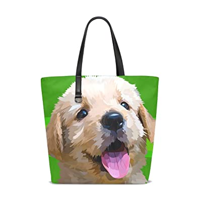 323257a91814 Image Unavailable. Image not available for. Color  GIOVANIOR Small Lovely  Fluffy Dog Golden Retriever Breed Travel Shoulder Bag Beach Tote Bags ...