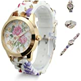 RICISUNG Colorful Ladies Watch Classic Gel Crystal Jelly Silicone Geneva watch