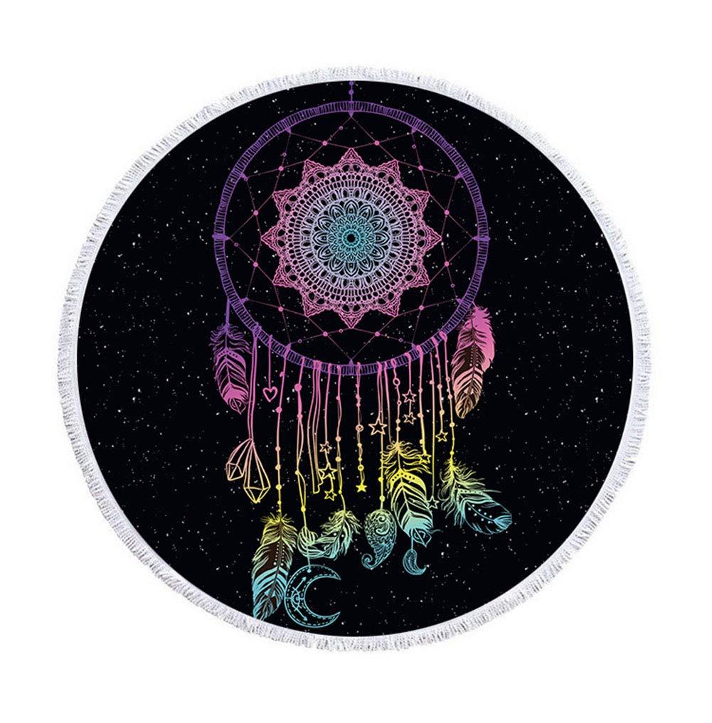 ... Mandala Lotus Luna Estrella Cielo redondas playa manta indias böhmisch plumas Round playa roundie Toalla de playa 59*59in multicolor: Amazon.es: Hogar