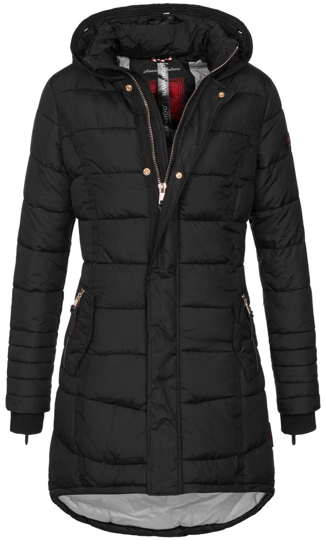 Navahoo Papaya Damen Winter Jacke Steppjacke Mantel Parka gesteppt warm B374